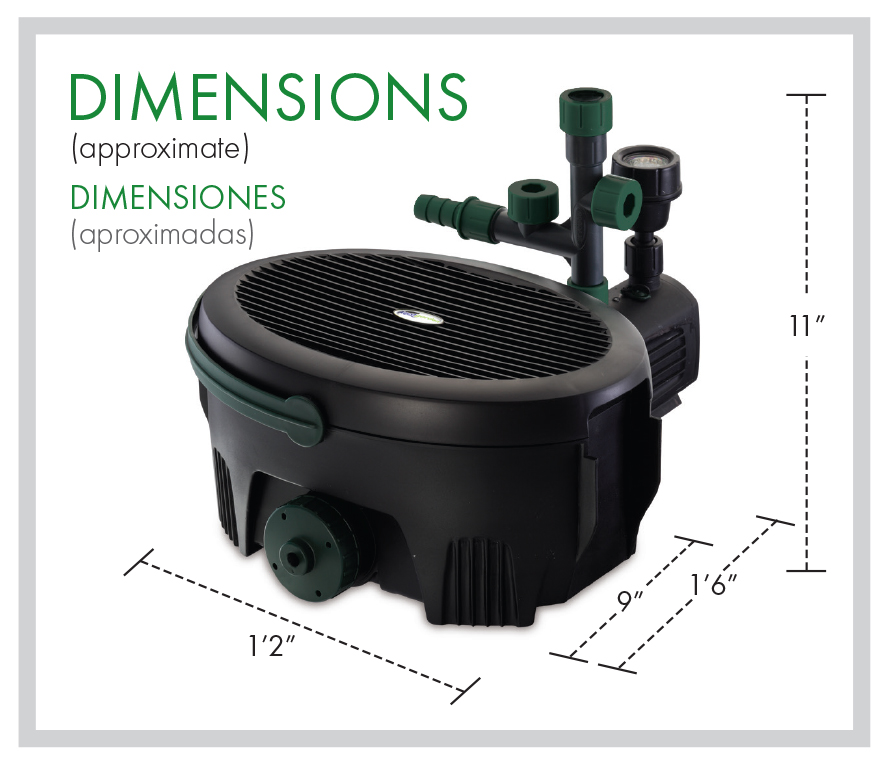 Inpond 600 dimensions